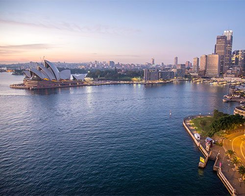 A picture of a city in Australia