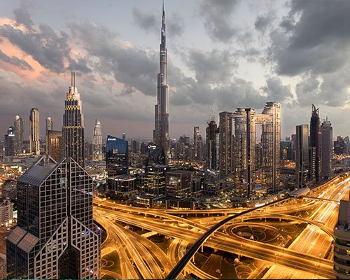 A picture of a city in the GCC