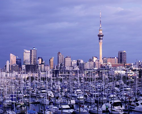 A picture of a city in New Zealand